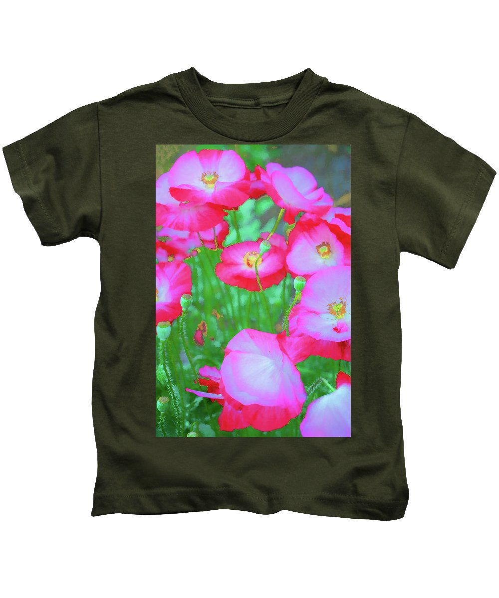 Clematis Vine Kids T-Shirt featuring the photograph Roadside Flowers by Tom Singleton