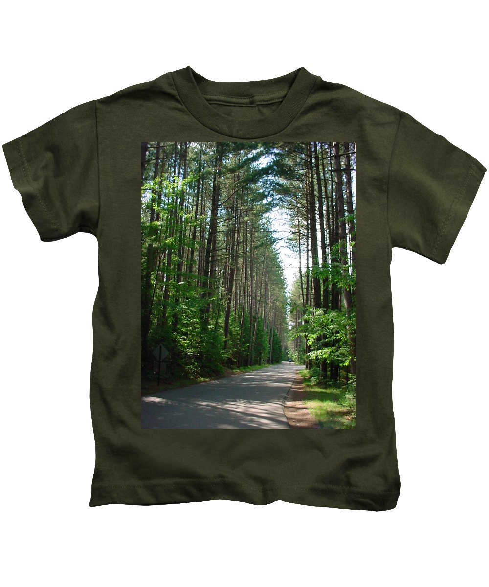 Fish Creek Kids T-Shirt featuring the photograph Roadway At Fish Creek by Jerrold Carton
