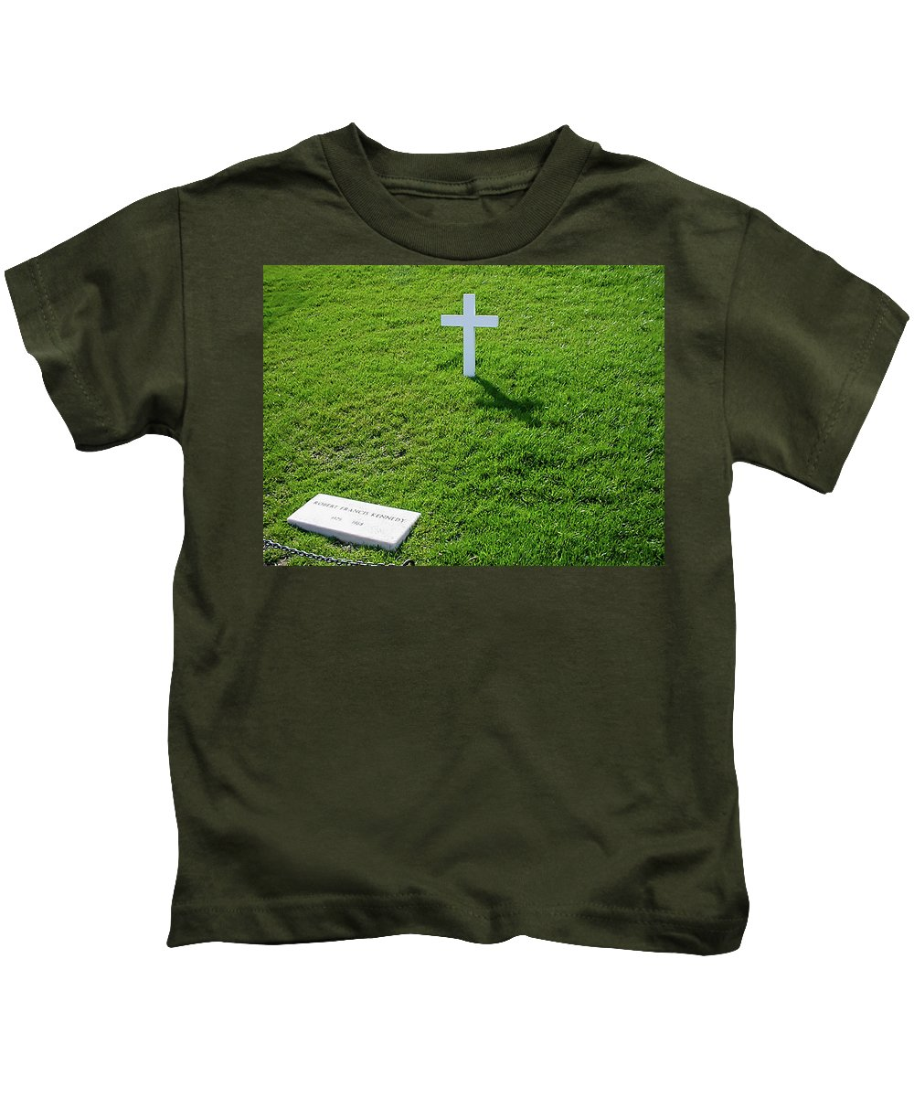 Robert Fitzgerald Kennedy Kids T-Shirt featuring the photograph Robert F Kennedy by Craig David Morrison