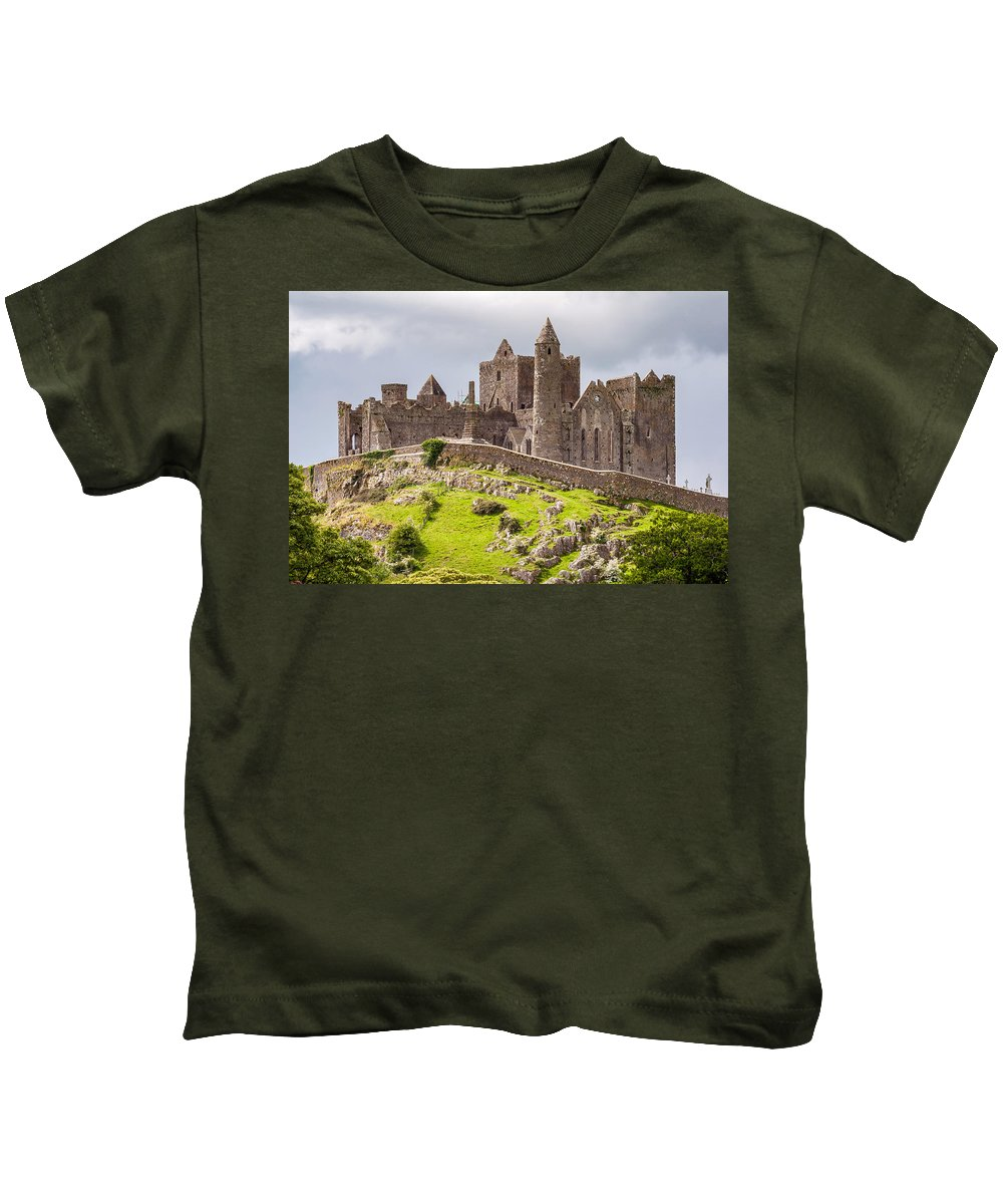 Ireland Kids T-Shirt featuring the photograph Rock Of Cashel by Pierre Leclerc Photography