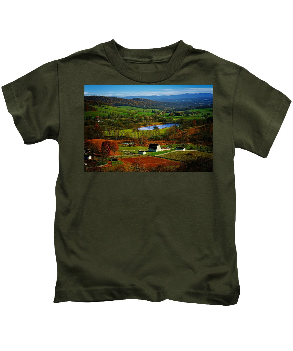 Rolling Kids T-Shirt featuring the photograph Rolling Countryside by Dawn Van Doorn