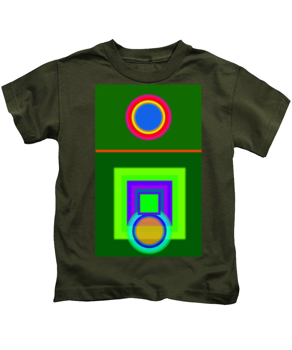 Classical Kids T-Shirt featuring the painting Roman Green by Charles Stuart