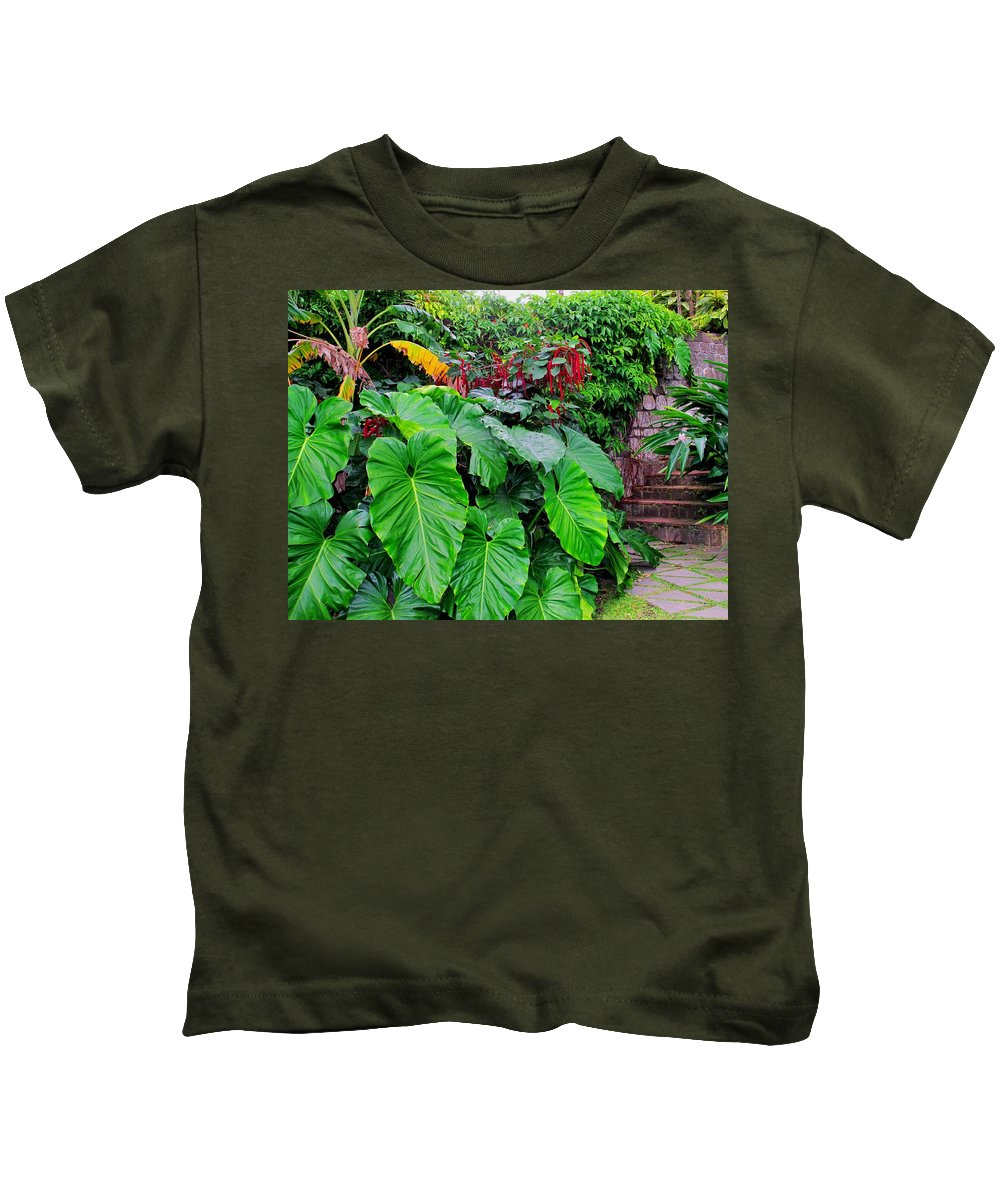 Lush Kids T-Shirt featuring the photograph Romney Steps by Ian MacDonald