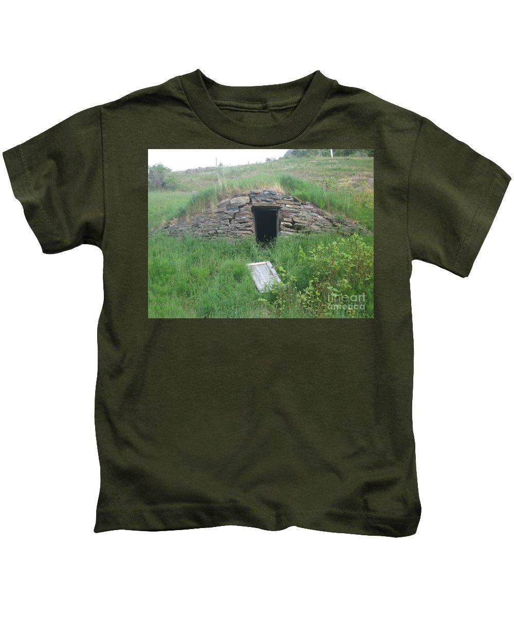 Photograph Cellar Old Green Newfoundland Kids T-Shirt featuring the photograph Root Cellar by Seon-Jeong Kim