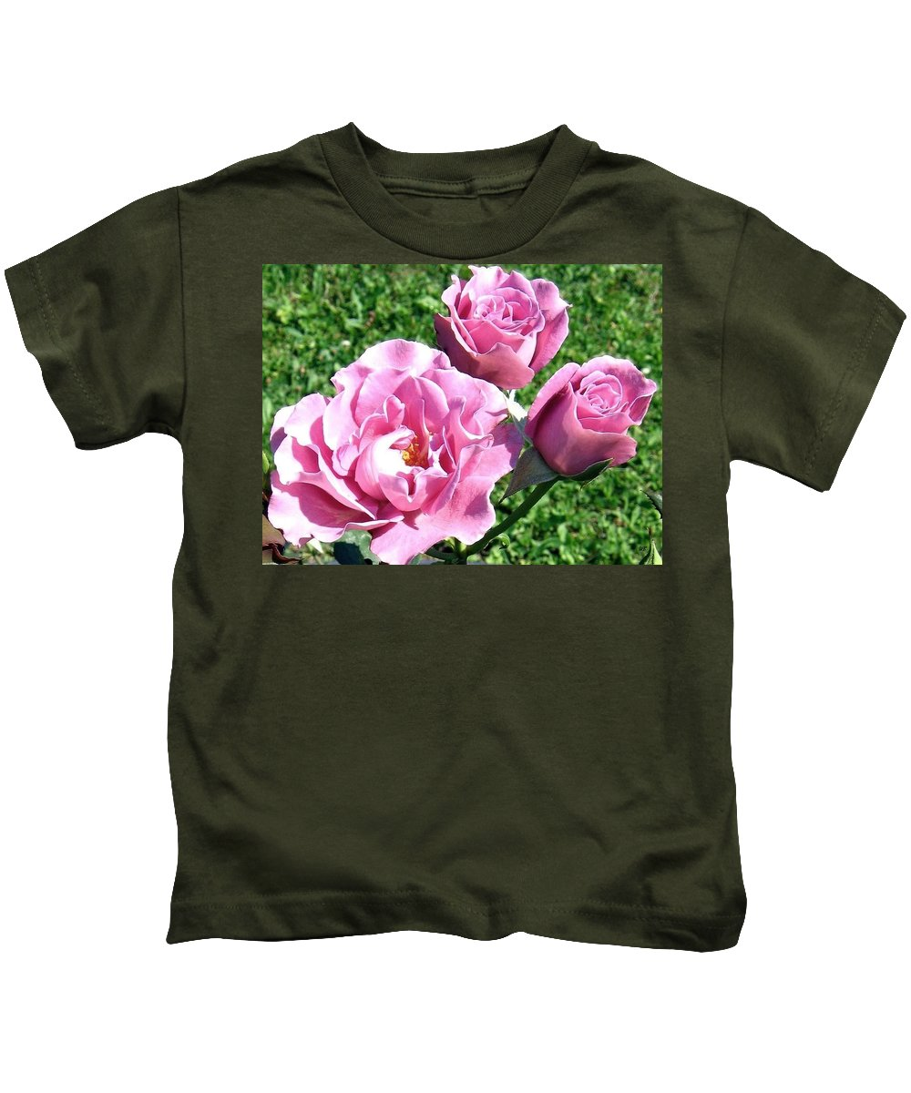 Roses Kids T-Shirt featuring the photograph Roses 6 by Will Borden