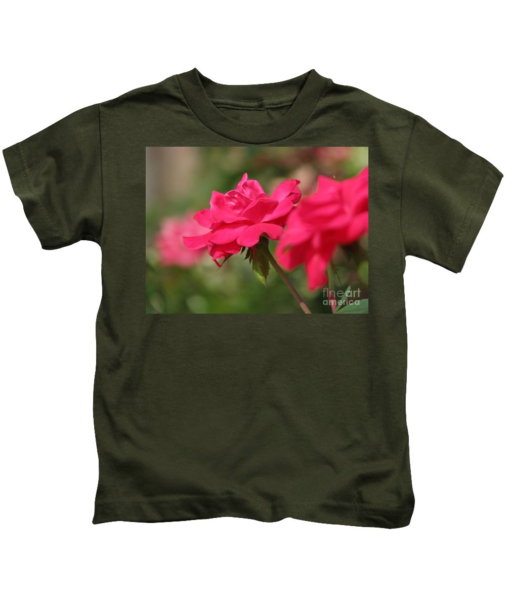 Rose Kids T-Shirt featuring the photograph Roses by Amanda Barcon