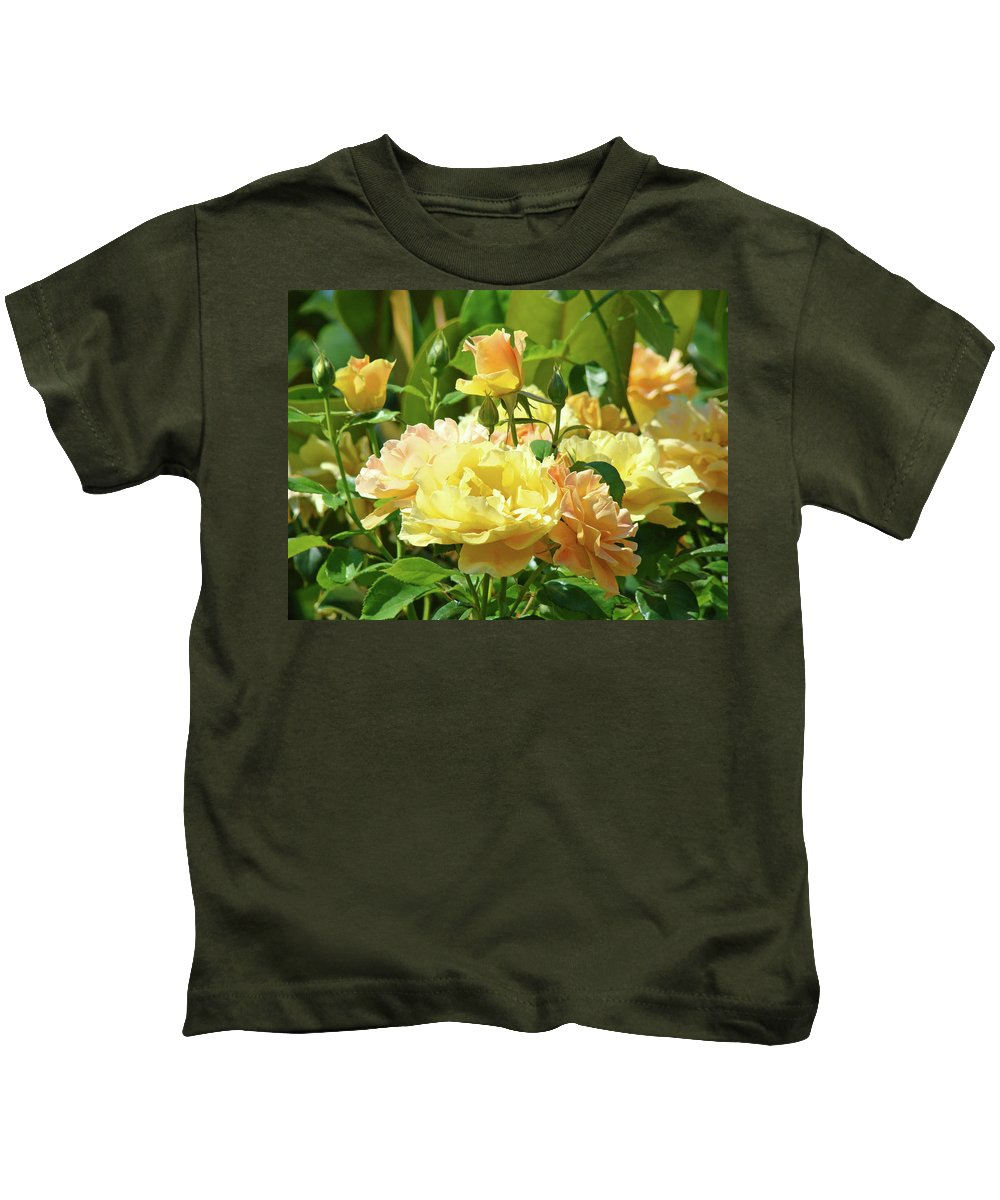 Rose Kids T-Shirt featuring the photograph Roses Art Prints Rose Garden Flowers Giclee Prints Baslee Troutman by Baslee Troutman