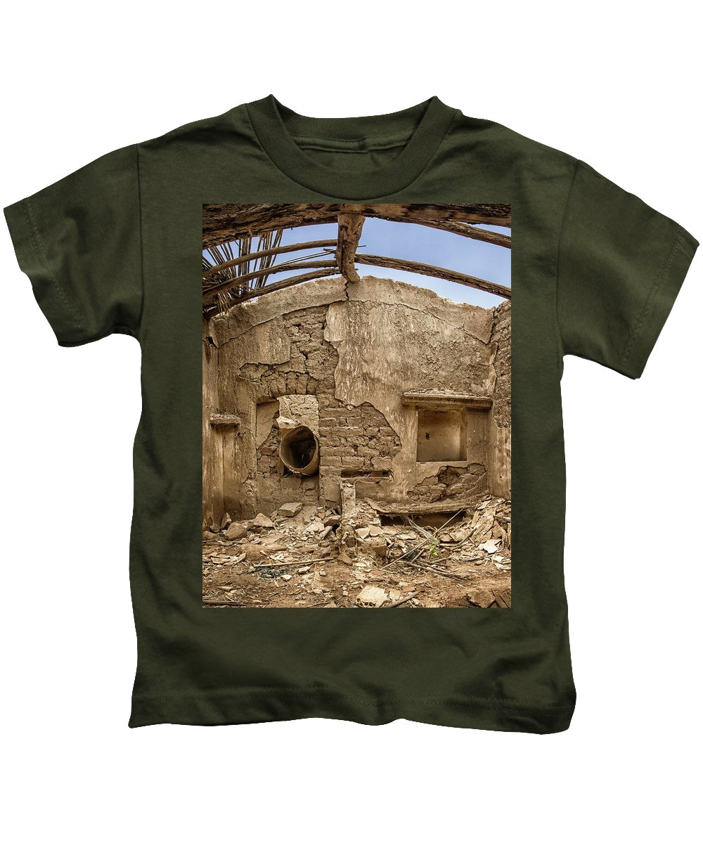 Ruined Kids T-Shirt featuring the photograph Ruin With Small Plant by Johan Bollen