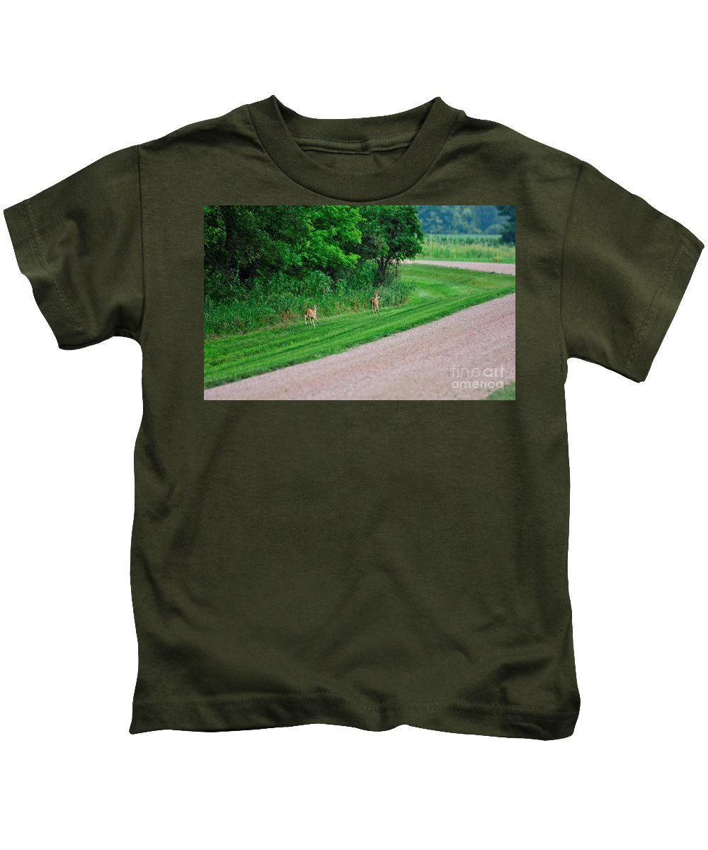 South Dakota Kids T-Shirt featuring the photograph Run Babies Run - 2 by M Dale