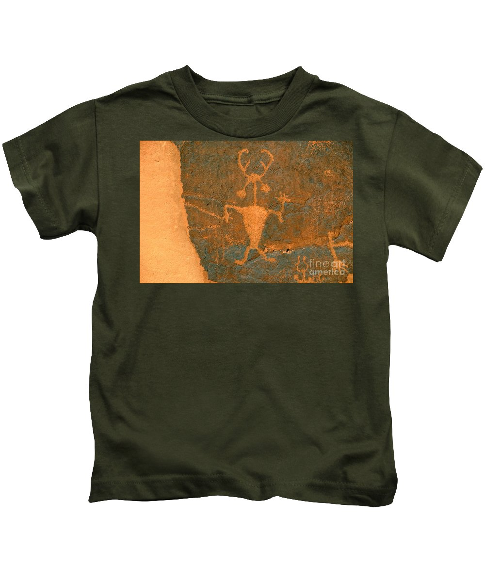 Running Kids T-Shirt featuring the photograph Running Man by David Lee Thompson