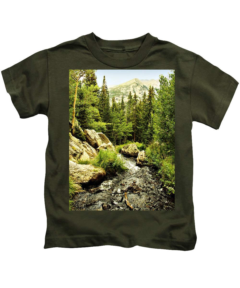 Colorado Kids T-Shirt featuring the photograph Running River by Marilyn Hunt