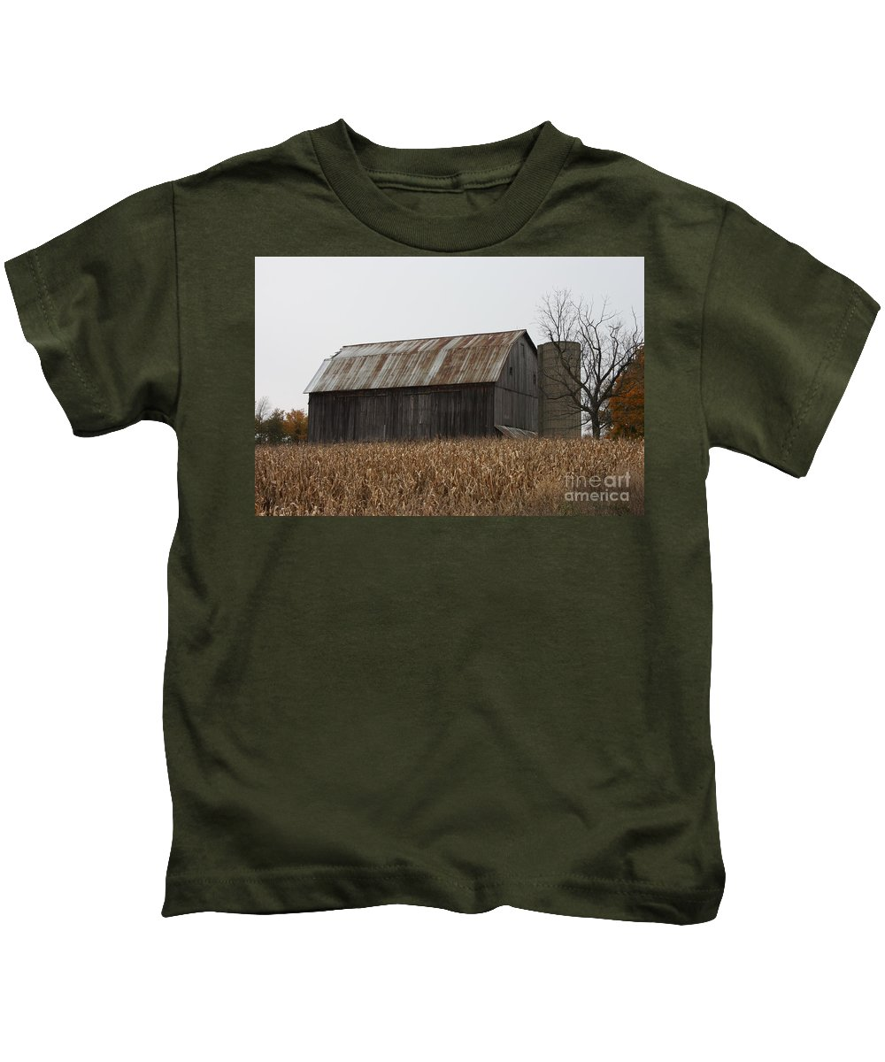 Barn Kids T-Shirt featuring the photograph Rusty by Brook Steed