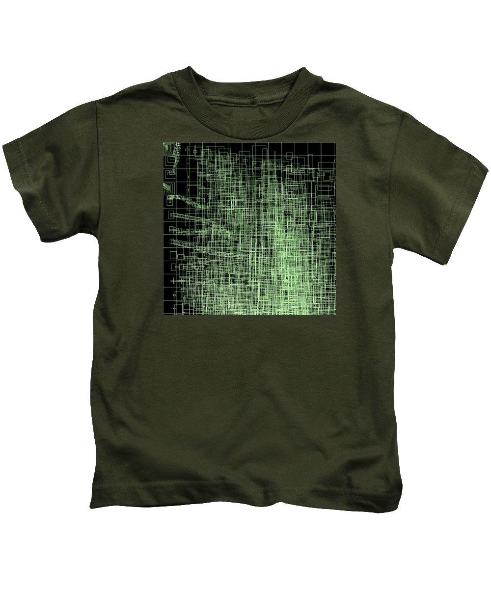 Abstract Kids T-Shirt featuring the digital art S.4.47 by Gareth Lewis