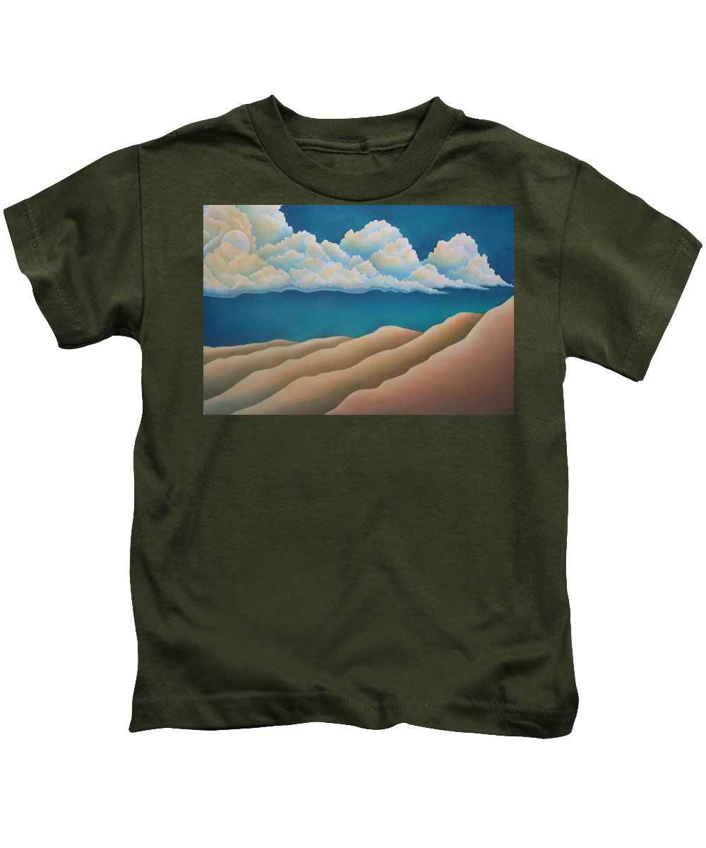Landscape Kids T-Shirt featuring the painting Sacred Night by Jeniffer Stapher-Thomas