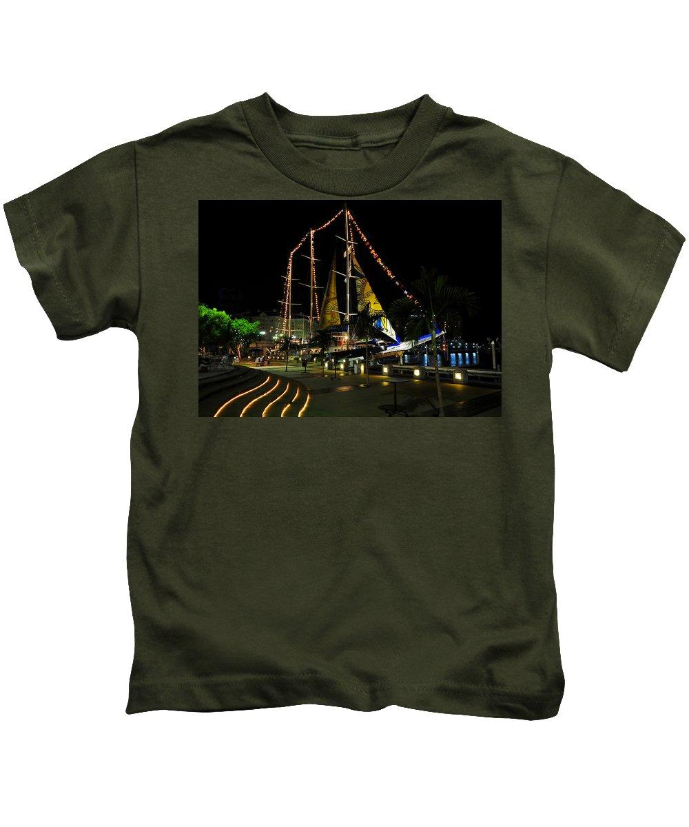 Sail Tampa Bay 2010 Kids T-Shirt featuring the photograph Sail Tampa Bay 2010 by David Lee Thompson