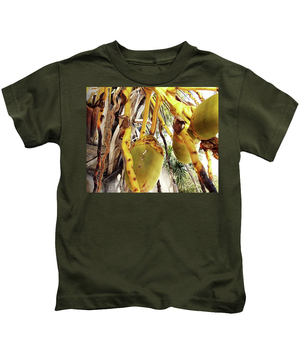 Florida Kids T-Shirt featuring the photograph Sanibel Coconuts Gp by Chris Andruskiewicz