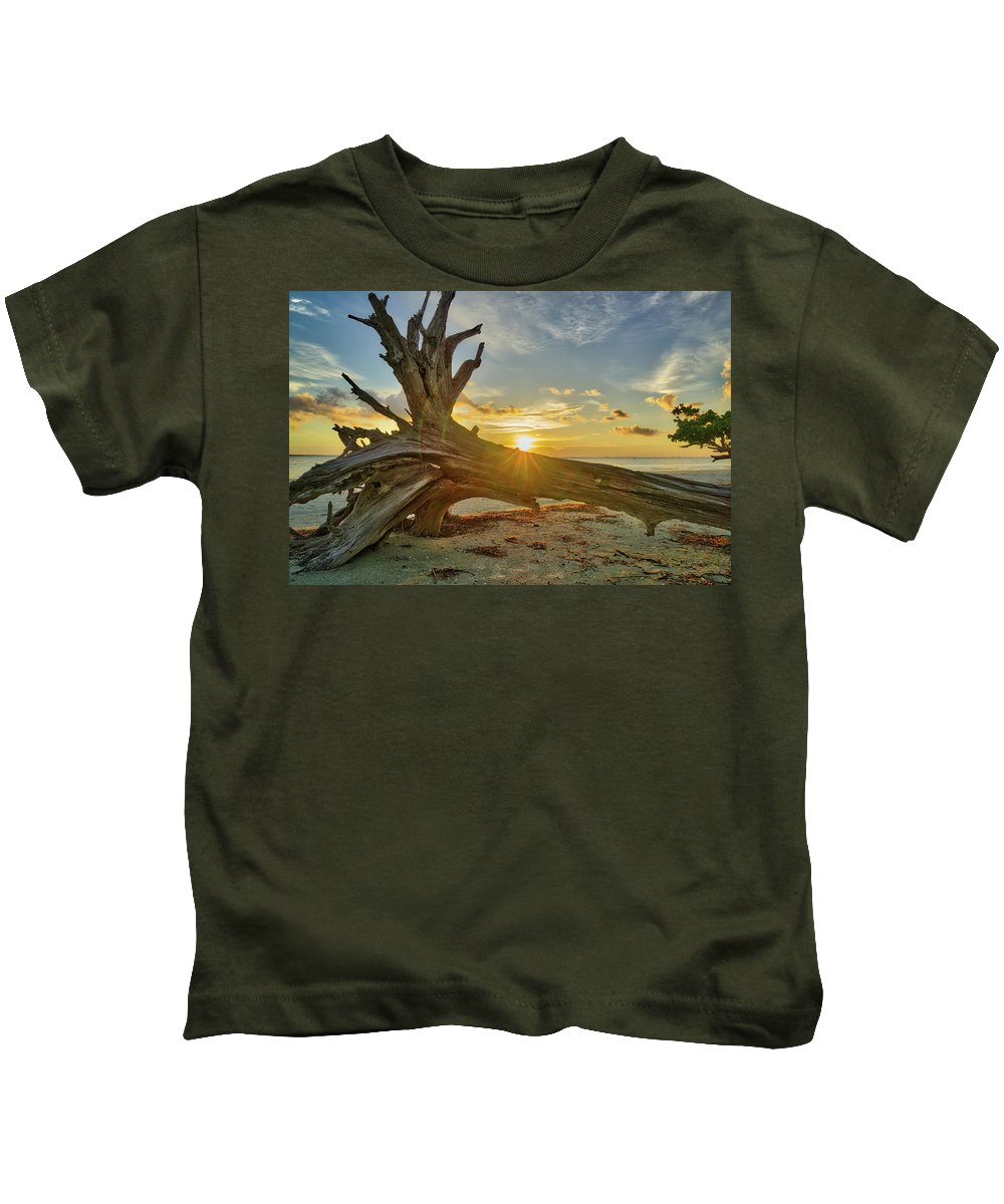Sanibel Island Kids T-Shirt featuring the photograph Sanibel Sunrise by Joey Waves