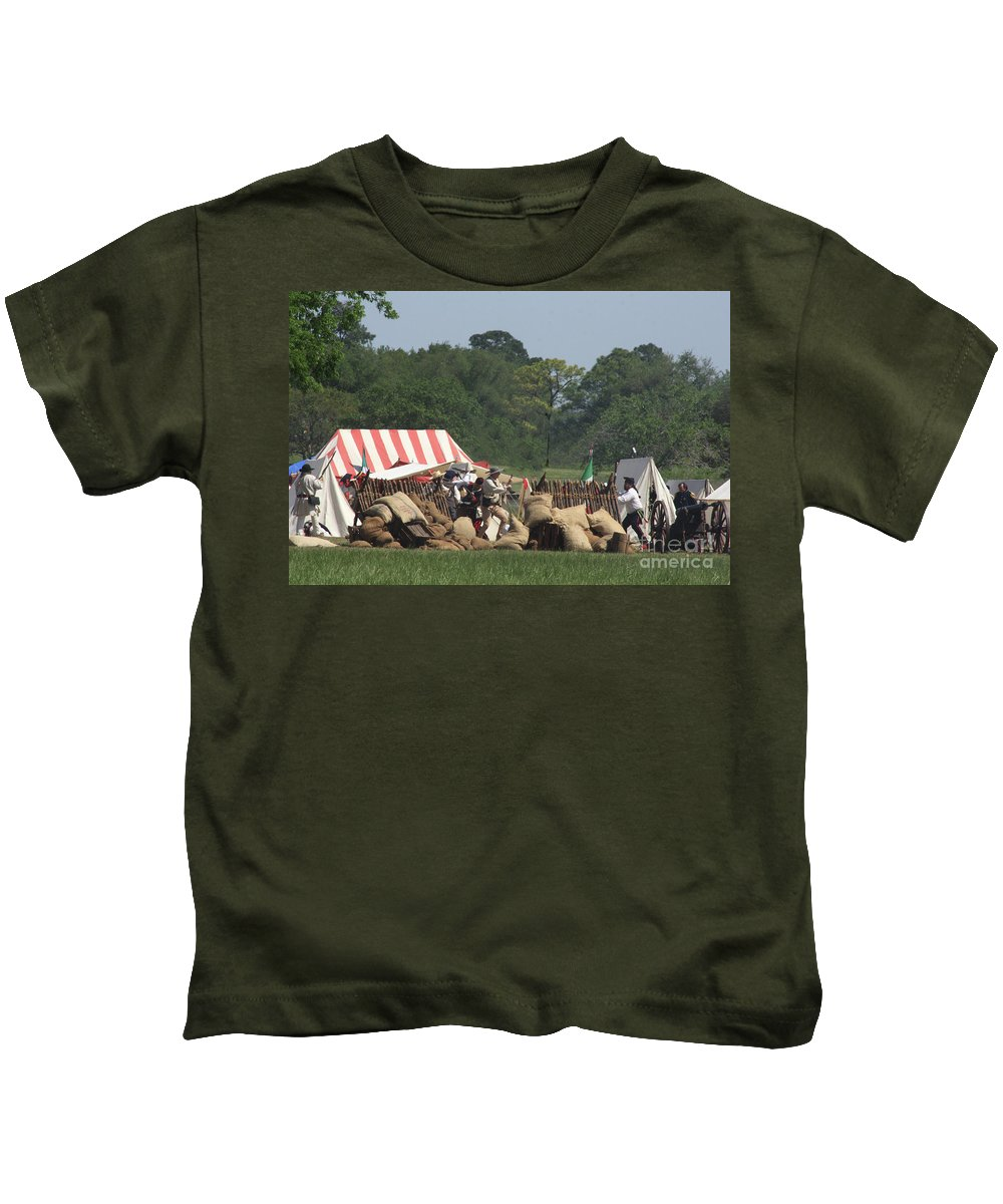 Battle At San Jacinto Kids T-Shirt featuring the photograph Santa Anna's Camp by Kim Henderson