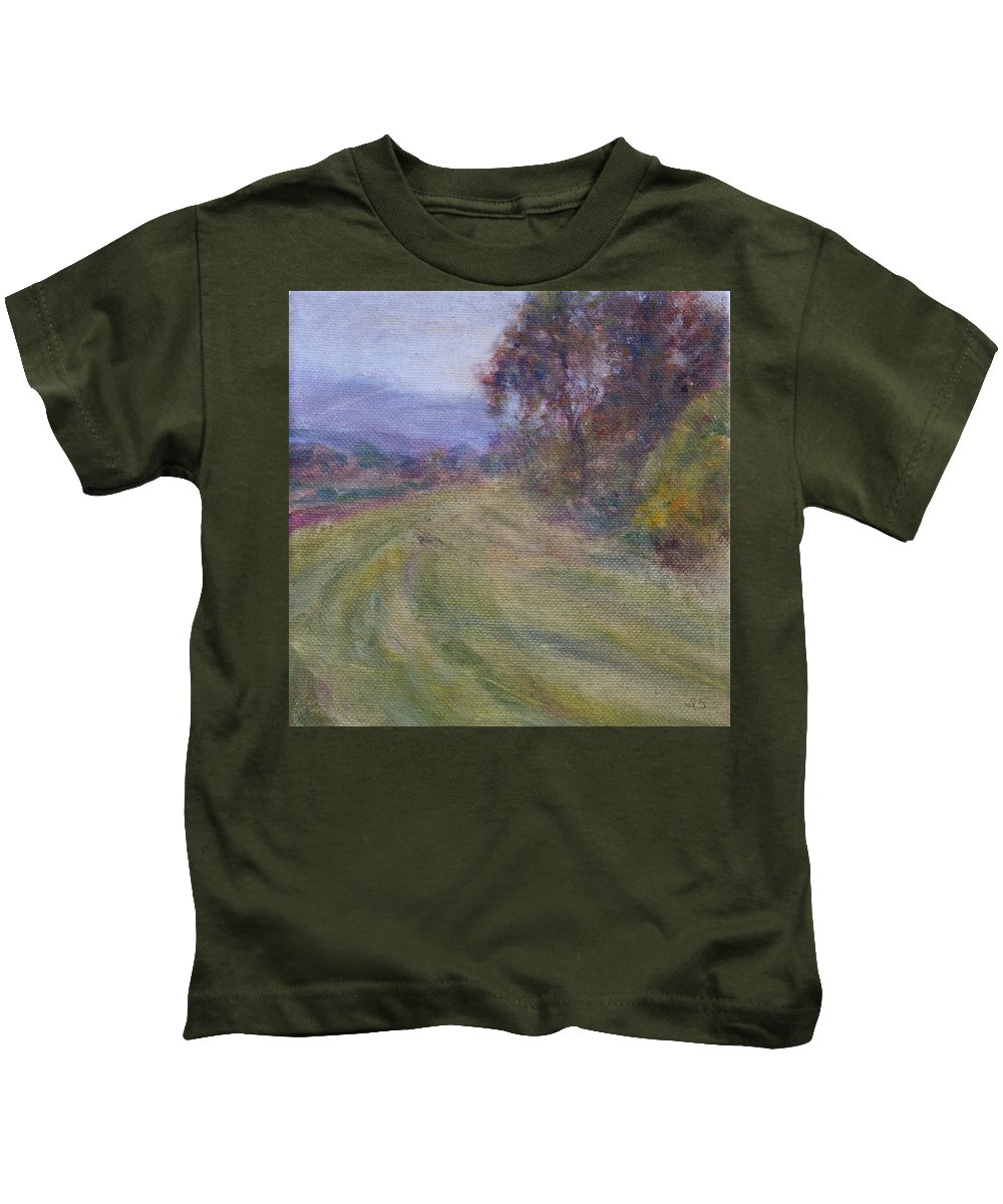 Water Kids T-Shirt featuring the painting Sauvie Green by Quin Sweetman