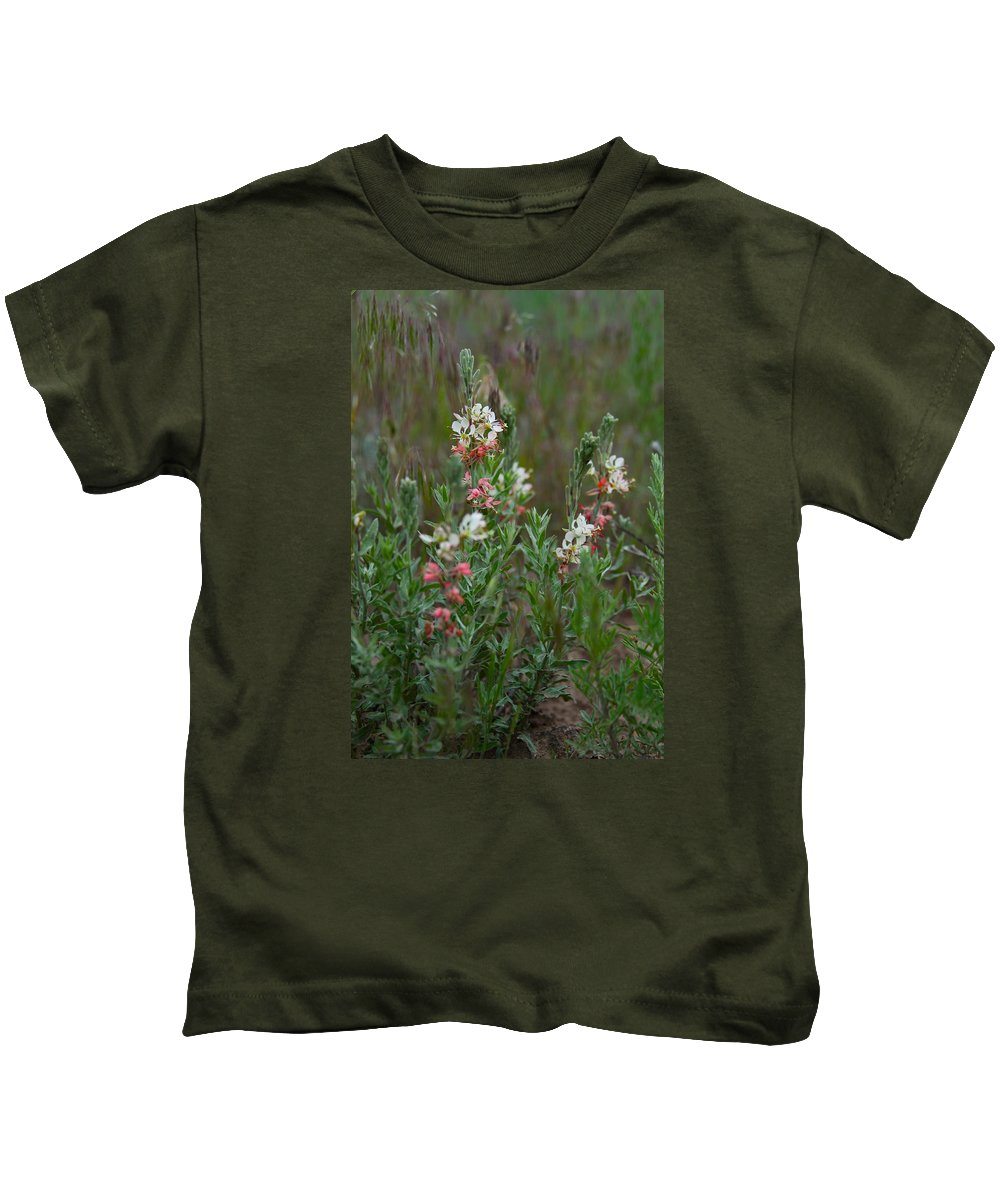 Flower Kids T-Shirt featuring the photograph Scarlet Gaura by Karon Melillo DeVega