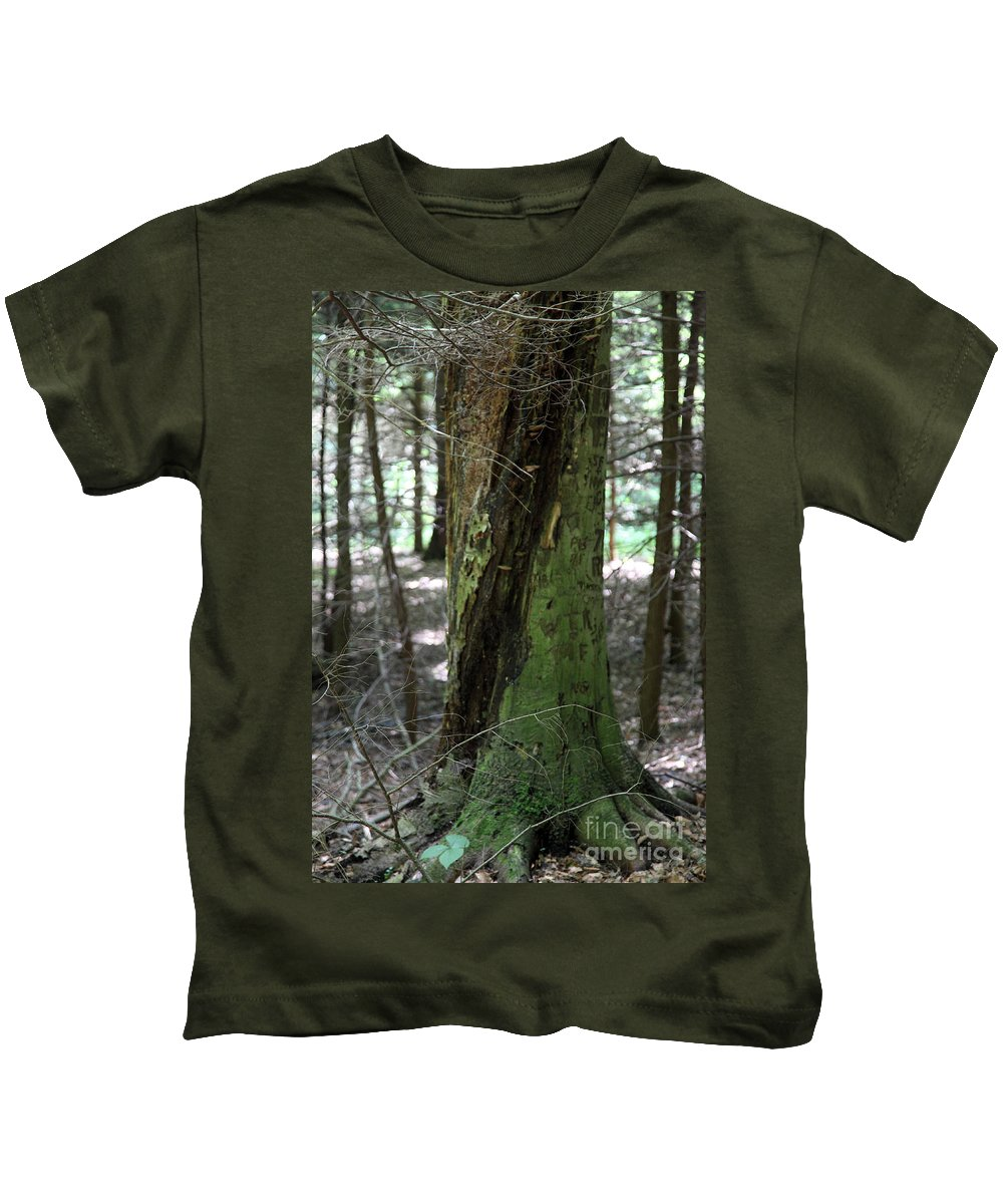 Tree Kids T-Shirt featuring the photograph Scarred by Amanda Barcon