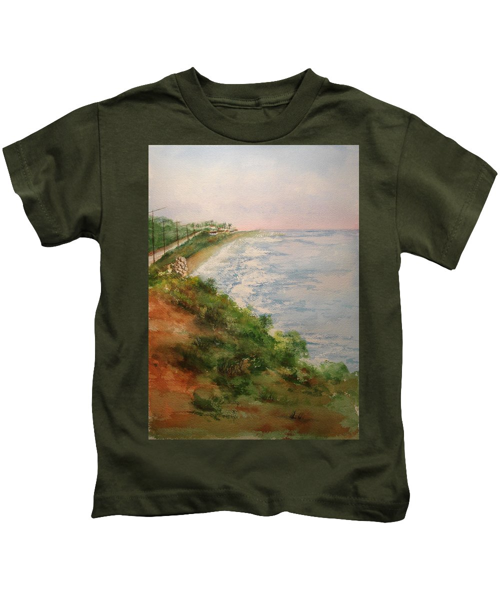 Landscape Kids T-Shirt featuring the painting Sea Of Dreams by Debbie Lewis