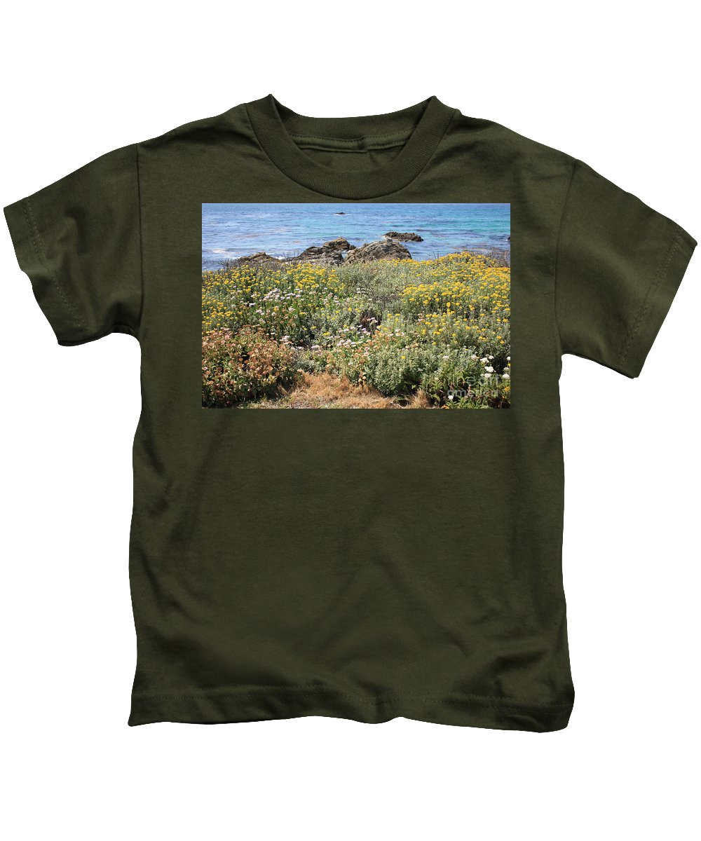 Seaside Flowers Kids T-Shirt featuring the photograph Seaside Flowers by Carol Groenen