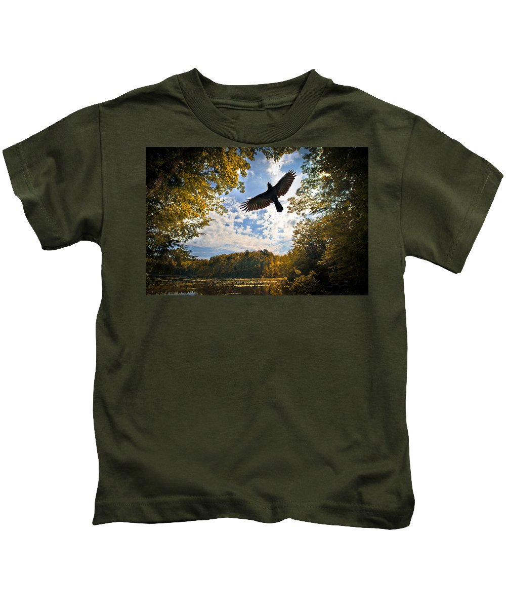 Landscape Kids T-Shirt featuring the photograph Season Of Change by Bob Orsillo