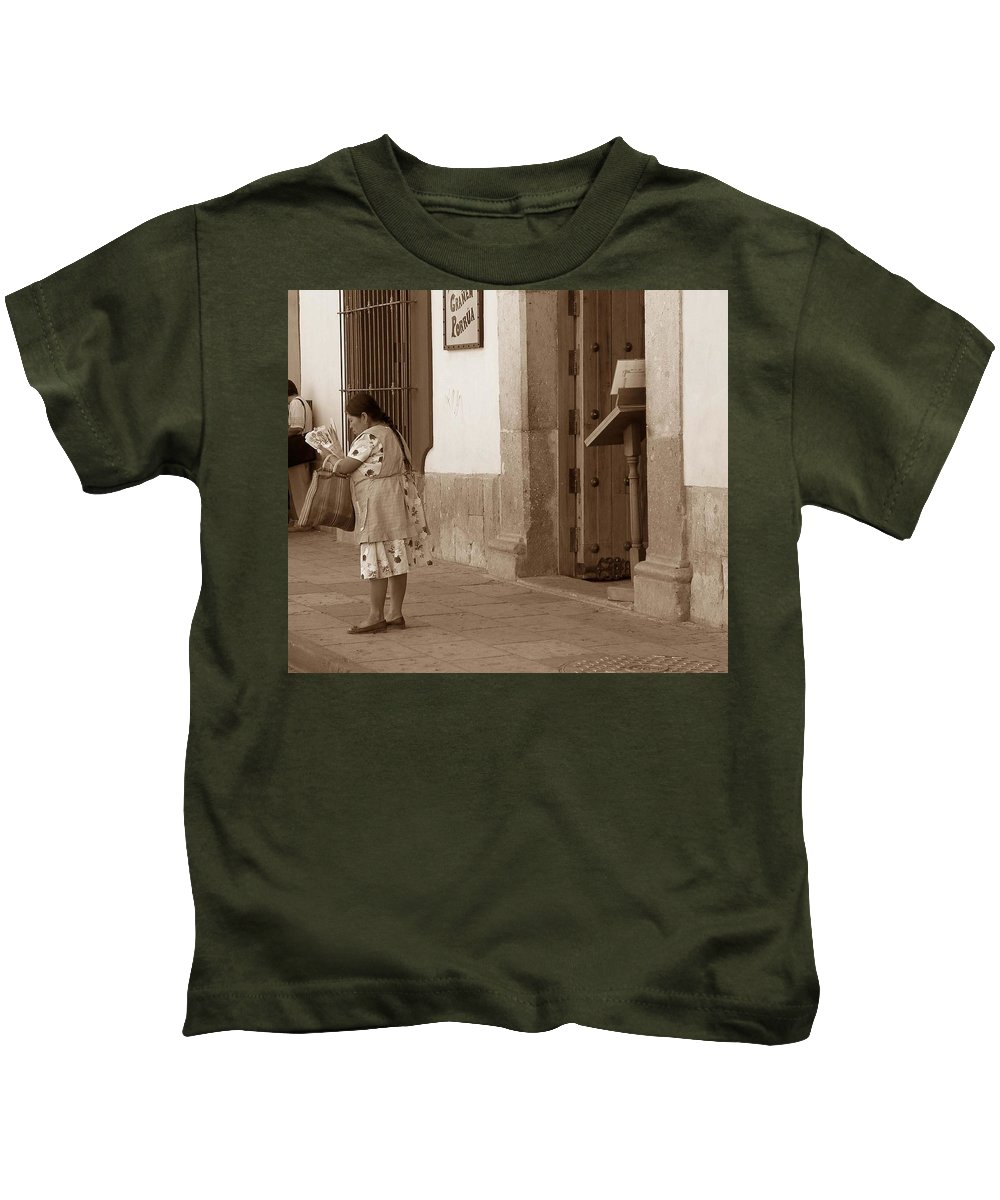 Charity Kids T-Shirt featuring the photograph Senora by Mary-Lee Sanders