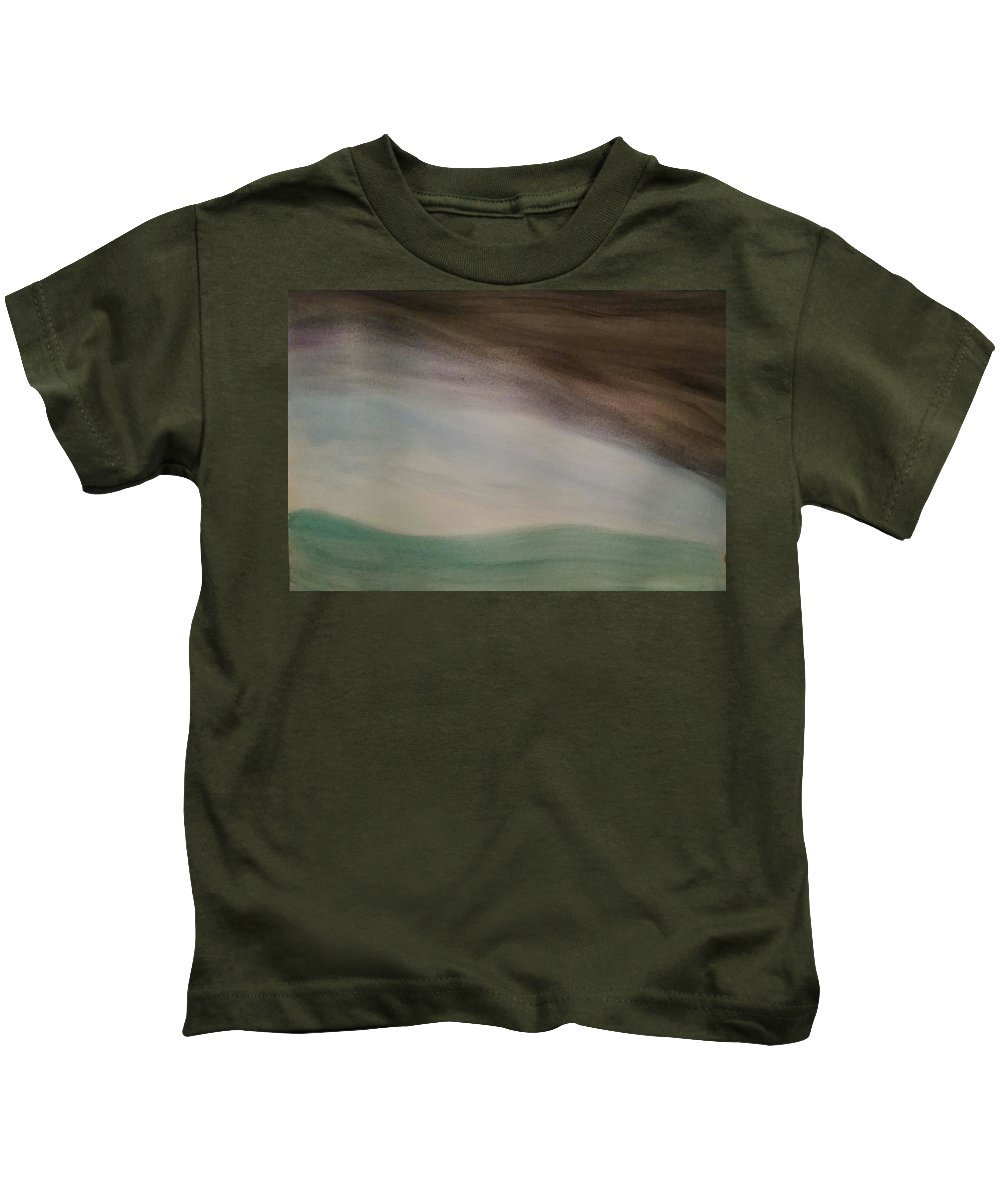 Storm Kids T-Shirt featuring the painting Setting The Stage by Vale Anoa'i