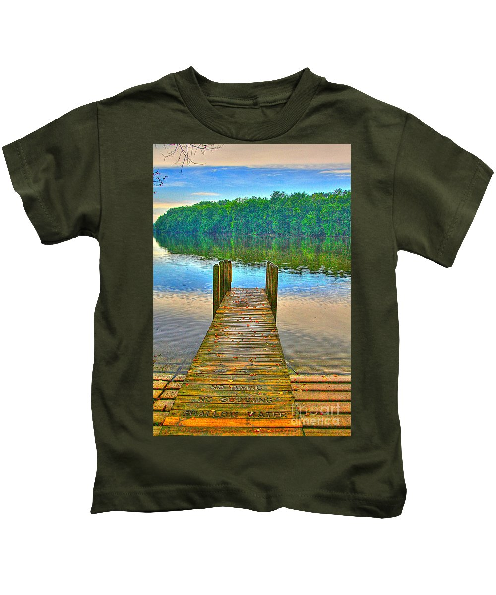 Shallow Kids T-Shirt featuring the photograph Shallow Water by Robert Pearson