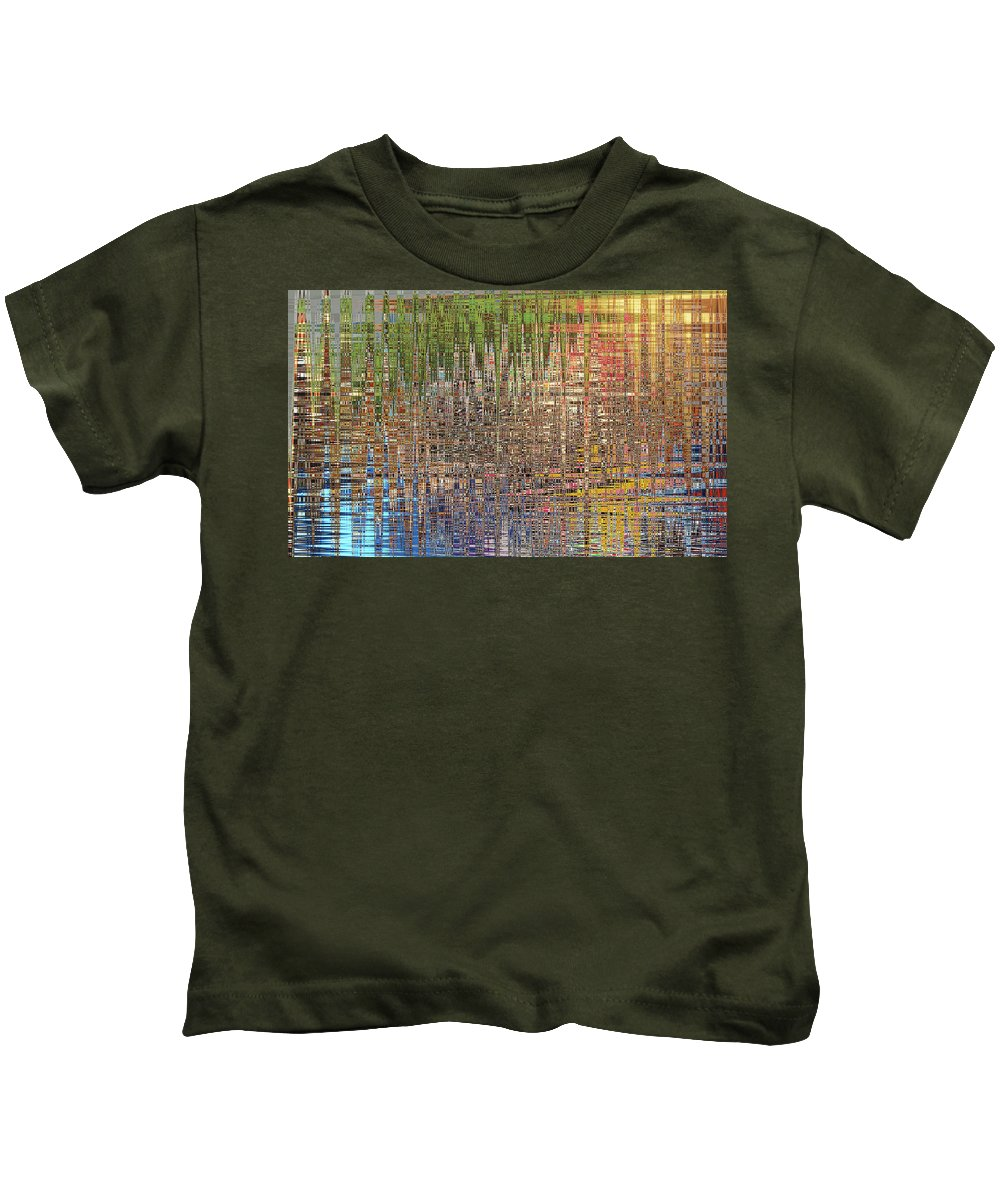 Abstract Kids T-Shirt featuring the painting Sharpened Light by Anne Cameron Cutri