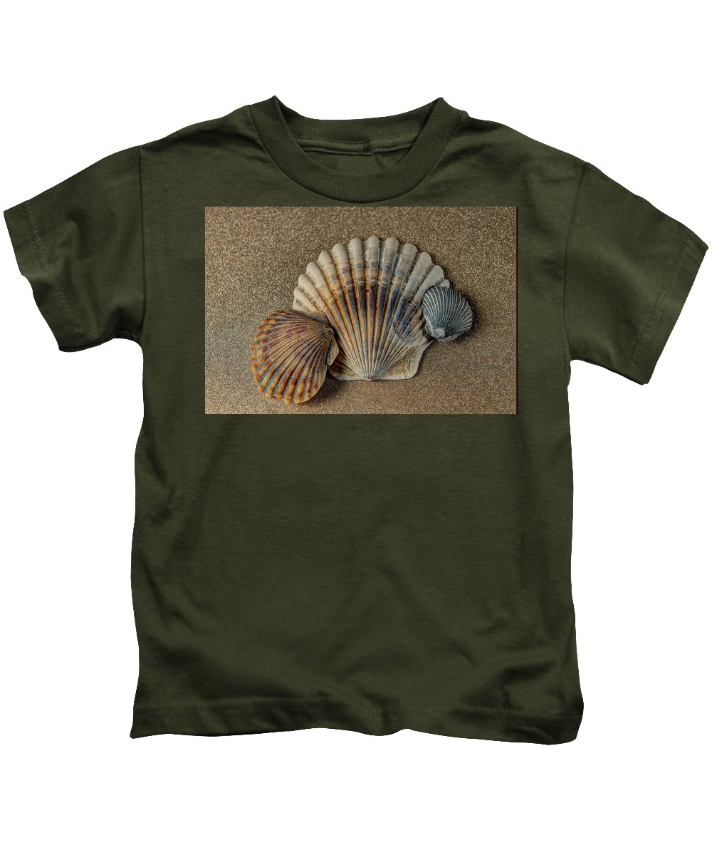 Shells Kids T-Shirt featuring the photograph Shells 1 by Luis Cifuentes