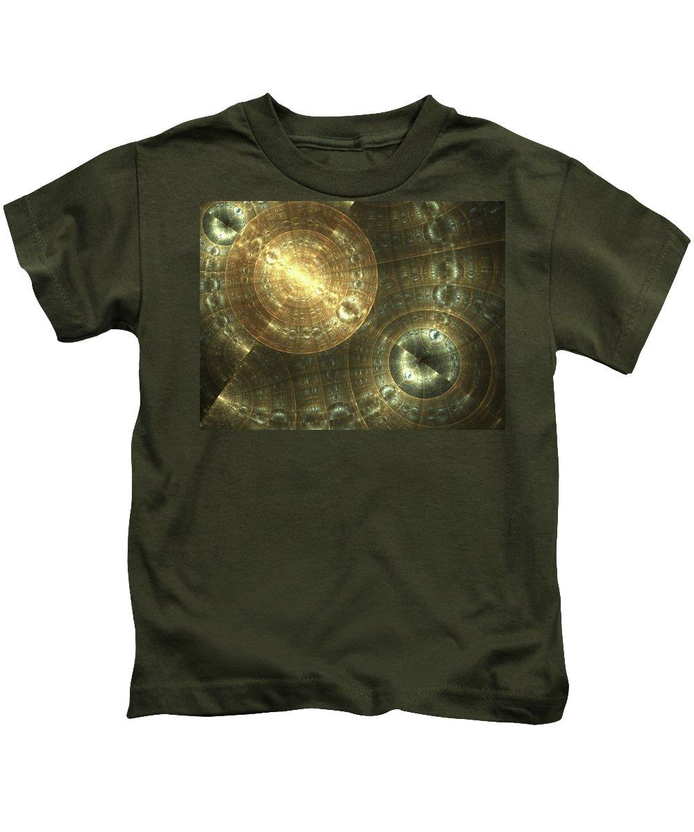 Fractal Kids T-Shirt featuring the digital art Shielded by Amorina Ashton