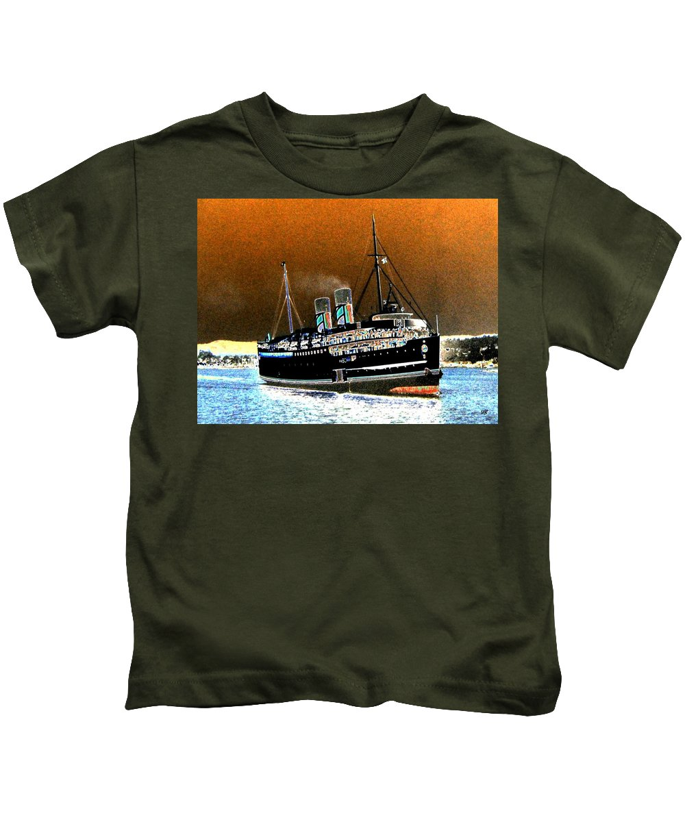 Princess Marguerite Kids T-Shirt featuring the digital art Shipshape 4 by Will Borden