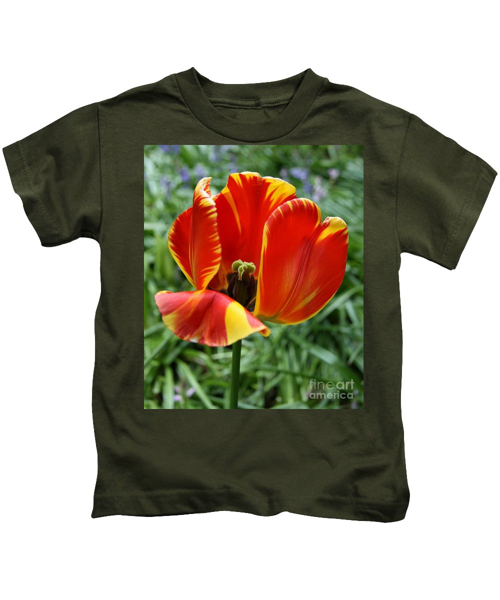 Tulip Kids T-Shirt featuring the photograph Show Your Heart by Christiane Schulze Art And Photography
