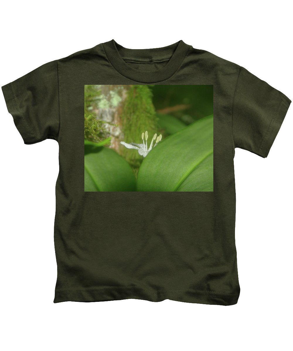 Flowers Kids T-Shirt featuring the photograph Shy Flower by Jeff Swan