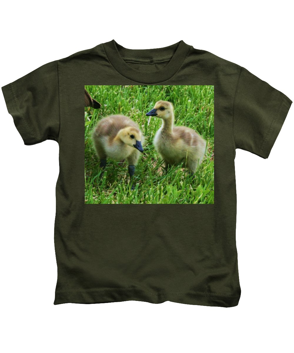 Nature Kids T-Shirt featuring the photograph Siblings by Angus Hooper Iii