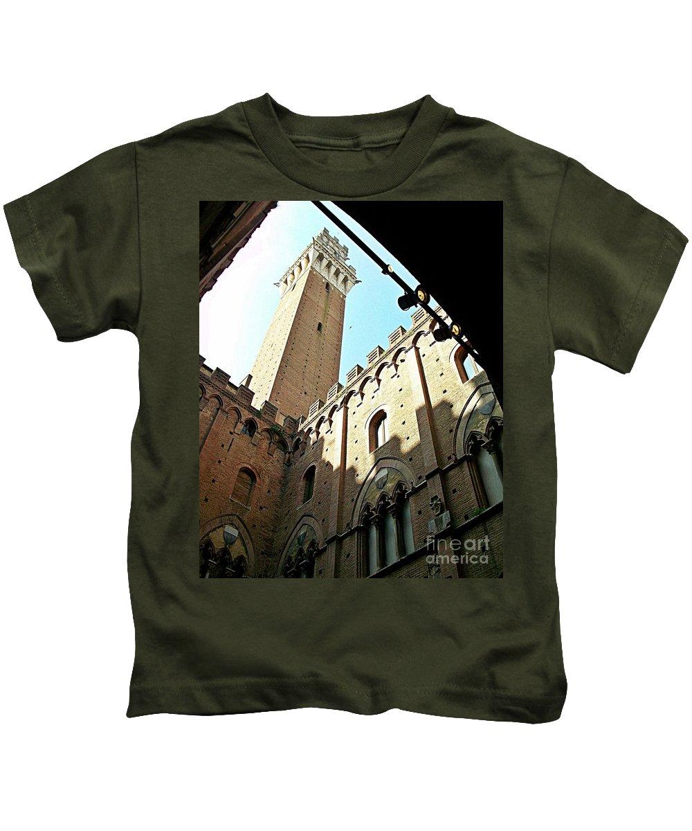 Siena Kids T-Shirt featuring the photograph Siena-41 by Rezzan Erguvan-Onal