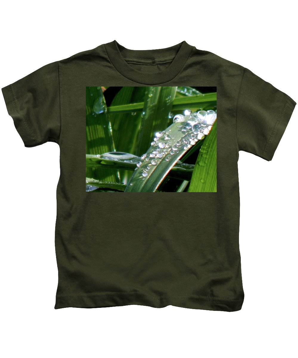 Grass Kids T-Shirt featuring the photograph Silver For The Fae by Wild Thing
