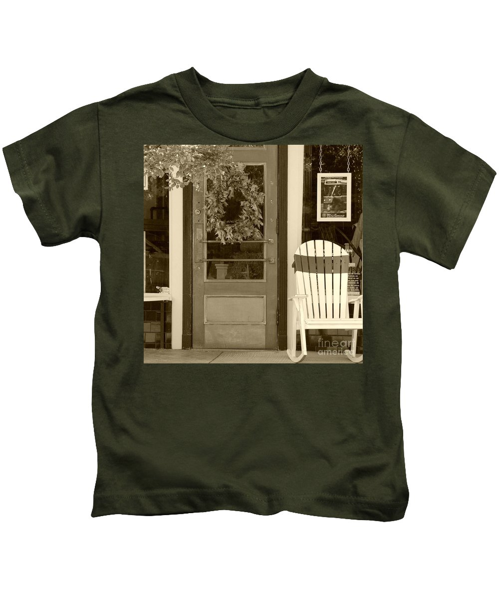 Rocking Chair Kids T-Shirt featuring the photograph Simple Times by Debbi Granruth