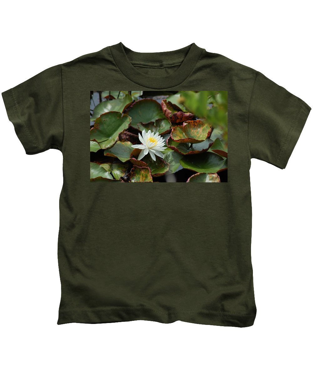 Water Kids T-Shirt featuring the photograph Single Water Lilly by Michael Thomas