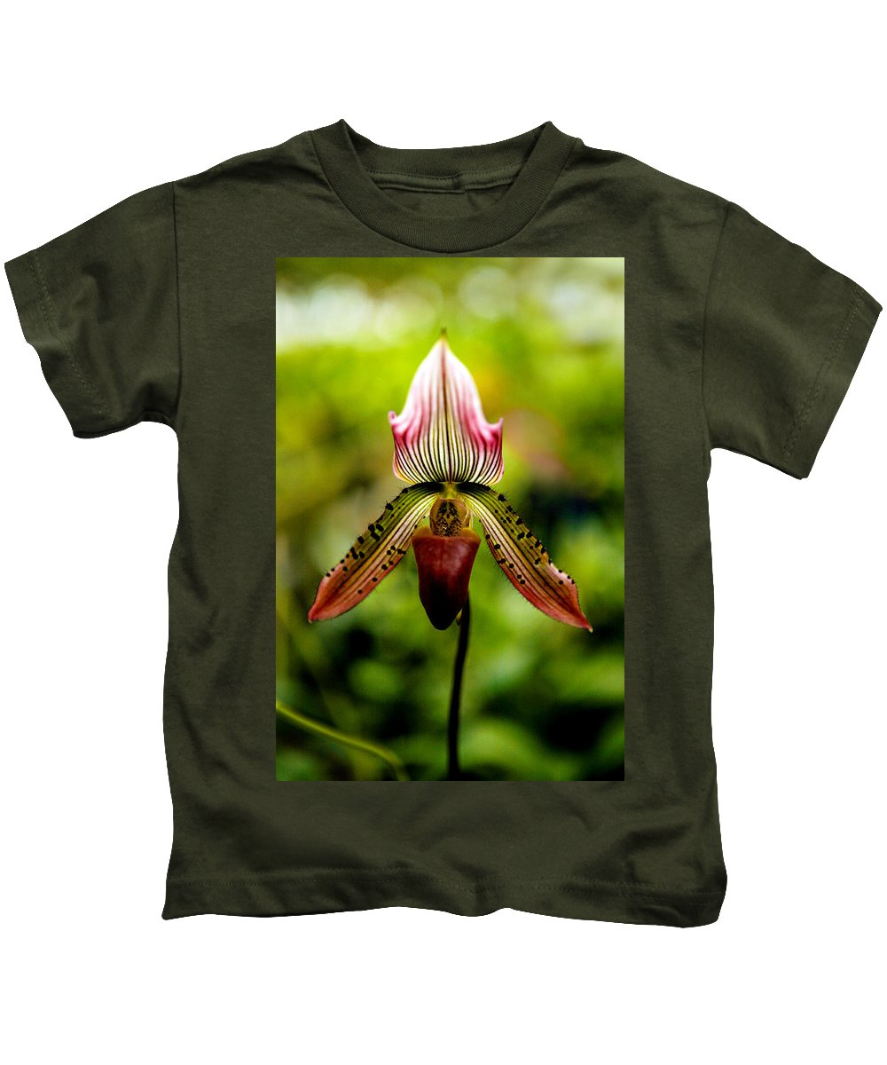 Orchid Kids T-Shirt featuring the photograph Singular Beauty by Marilyn Hunt