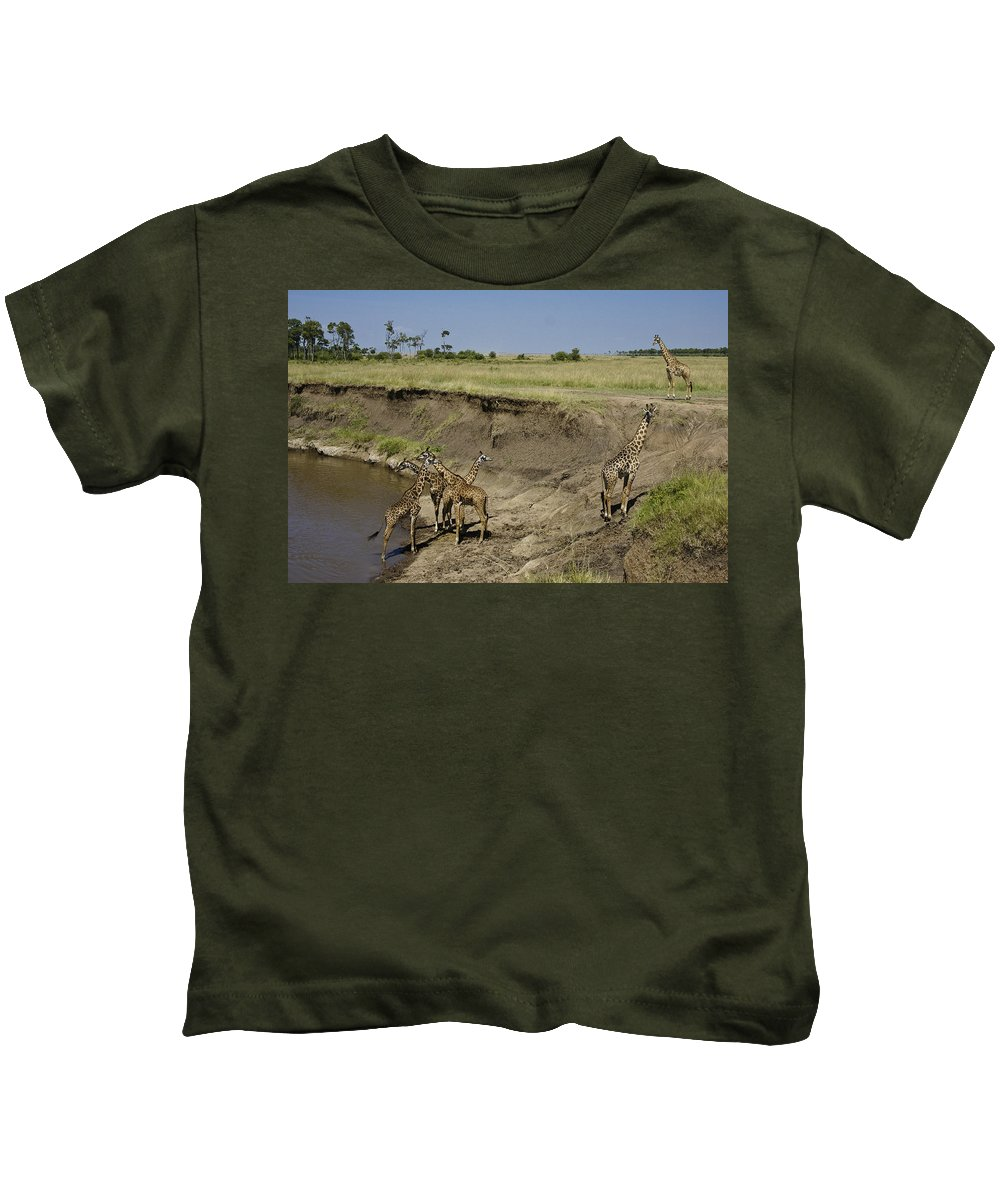 Africa Kids T-Shirt featuring the photograph Six Is A Crowd by Michele Burgess