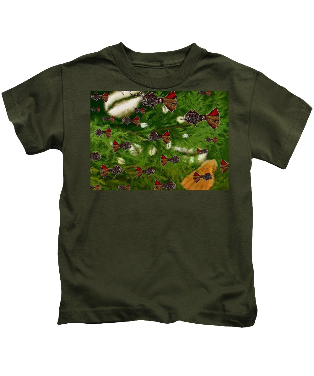 Skull Kids T-Shirt featuring the mixed media Skull Fish by Pepita Selles