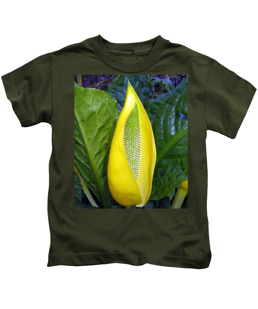 Skunk Cabbage Kids T-Shirt featuring the photograph Skunk Cabbage by Will Borden