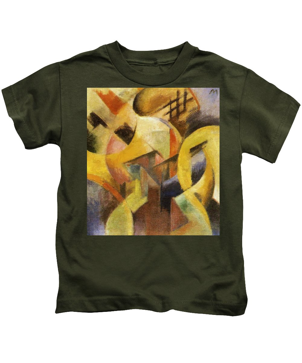 Small Kids T-Shirt featuring the painting Small Composition I 1913 by Marc Franz