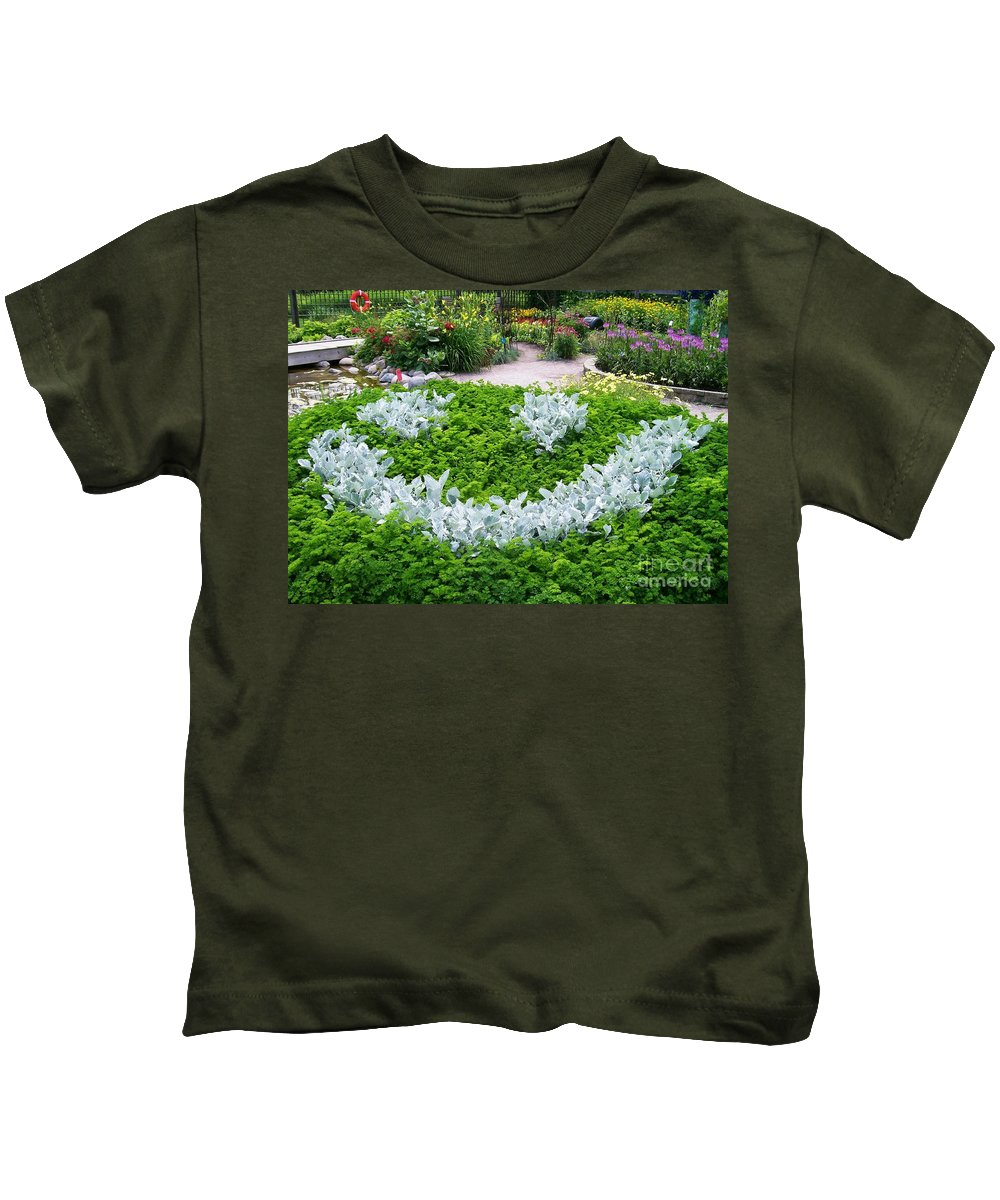 Shrub Kids T-Shirt featuring the photograph Smiley Face Garden Too by Laurie Eve Loftin