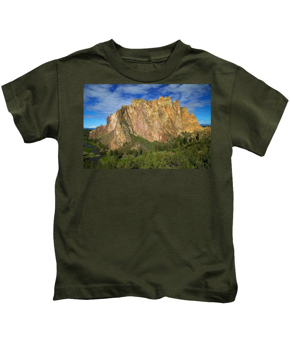 Landscape Kids T-Shirt featuring the photograph Smith Rock Oregon by Randall Ingalls