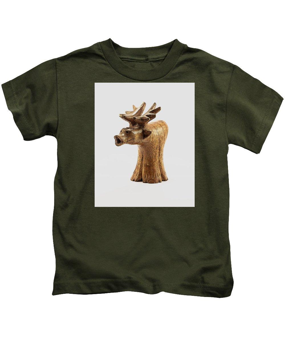 Moose Kids T-Shirt featuring the photograph Smokin' Moose by Greg Thiemeyer
